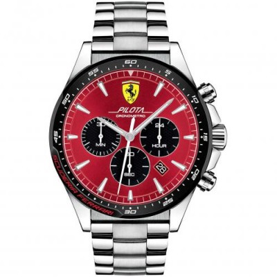 Orologio Uomo Ferrari Cronografo Pilota FER0830619
