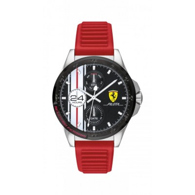Orologio Uomo Ferrari Multifunzione Pilota FER0830657